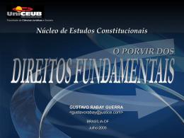 Apresentação do prof. Gustavo Rabay sobre