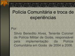 Polícia Comunitária e troca de experiências