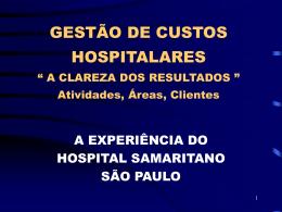 a gestão estratégica de custos em hospitais privados