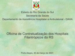 Oficina de Contratualização - Secretaria da Saúde