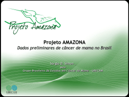 Projeto Amazona Dados preliminares de câncer de mama