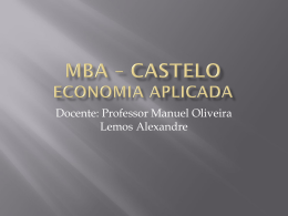 mba – castelo economia aplicada - Universidade Castelo Branco