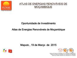 Oportunidade de Investimento Atlas de Energias Renováveis de