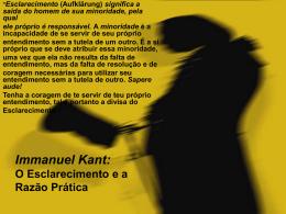 Immanuel Kant: * A Filosofia Transcendental