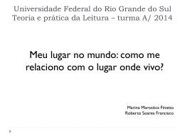 Universidade Federal do Rio Grande do Sul Teoria e