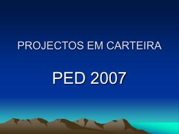 PROJECTOS EM CARTEIRA