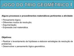 Jogo Trio Geométrico I