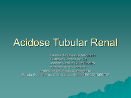 Acidose Tubular Renal por Nefrocalcinose