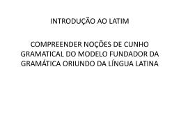 Introdução ao Latim – Prof. Arimir Cunha