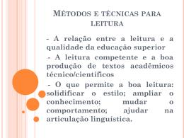 Slides Métodos e técnicas para leitura