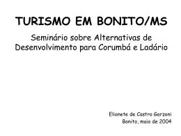 TURISMO EM BONITO/MS