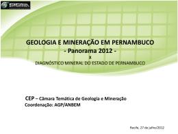 Geologia e Mineração em Pernambuco
