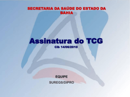 DIPRO - ASSINATURA DO TCG - 22.07.2010