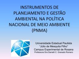 Slides INSTRUMENTOS DA PNMA