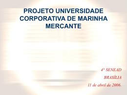 PROJETO UNIVERSIDADE CORPORATIVA DE MARINHA