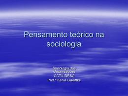 Pensamento teórico na sociologia