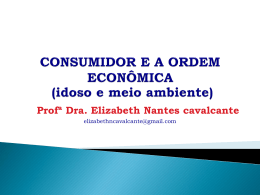 Consumidor e a Ordem Economica1
