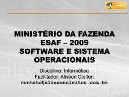 Apresentação PowerPoint Módulo II - Sistemas