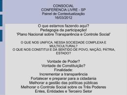 CONSOCIAL CONFERENCIA LIVRE - SP Painel