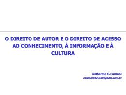 v. direito de autor e direito de livre acesso à informação e à cultura