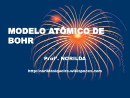 MODELO ATÔMICO DE BOHR - norildasiqueira