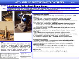 APT 14 - Atividade de Corte e Solda Oxiacetilênica