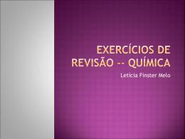 Exercícios de Revisão -