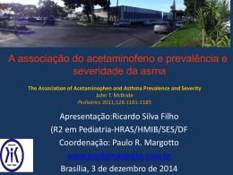 A associação do acetaminofeno e prevalência e severidade da asma