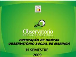 Indicação - Observatório Social do Brasil
