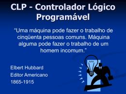 CLP – Apresentação e Histórico.