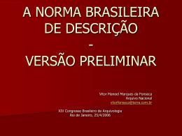 Oficina 1 - Norma Brasileira de Descrição - NOBRADE