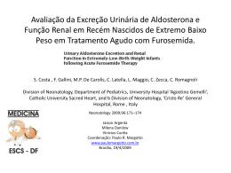Avaliação da Excreção Urinária de Aldosterona e Função Renal em