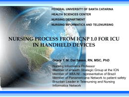 Nursing Process from ICNP 1.0 for ICU in Handheld Devices