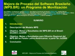 MPS.BR: Mejora de Proceso del Software Brasileño