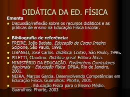 DIDÁTICA DA ED. FÍSICA