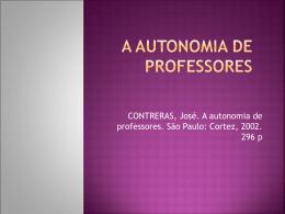 CONTRERAS A AUTONOMIA DE PROFESSORES - Marcos