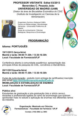 Programação completa colaboração Dr. Benevides Pessela