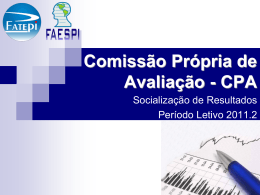 CPA – Socialização de Resultados 2011