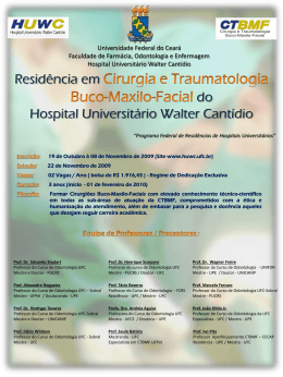cartaz - Curso de Odontologia - Universidade Federal do Ceará