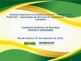 Mitos e Verdades - Ministério do Desenvolvimento, Indústria e
