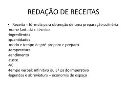 REDAÇÃO DE RECEITAS