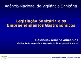 Vigilância Sanitária: processos tecnológicos, qualidade e