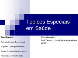 Tópicos Especiais em Saúde