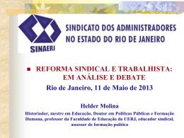reforma sindical e trabalhista - Sindicato dos Administradores no