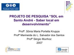 SOL em Santo André - Saber local em desenvolvimento