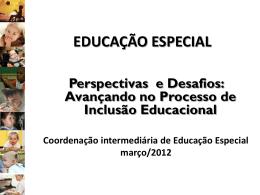 EDUCAÇÃO ESPECIAL - COORDENAÇÃO DE EDUCAÇÃO
