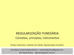 Registro de Imóveis Regularização Fundiária