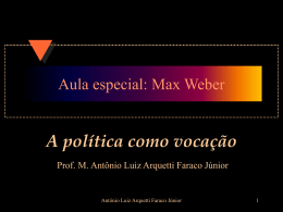 Aula especial: Max Weber