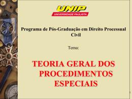 teoria geral dos procedimentos especiais
