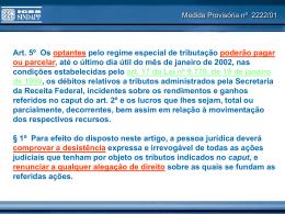 Apresentação utilizada na reunião técnica do dia 12/04/2007